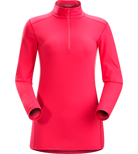 Phase AR Zip Neck LS Women's Lightly insulated, zip-neck base layer, designed for use during aerobic activities in cooler conditions. Phase Series: Moisture wicking base layer | AR: All-Round.