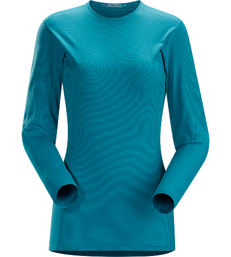 Phase SL Crew LS Women's Moisture-wicking base-layer, constructed using odour-control fabric; ideal as lightweight insulation layer during aerobic activities. Phase Series: Moisture wicking base layer | SL: Superlight.