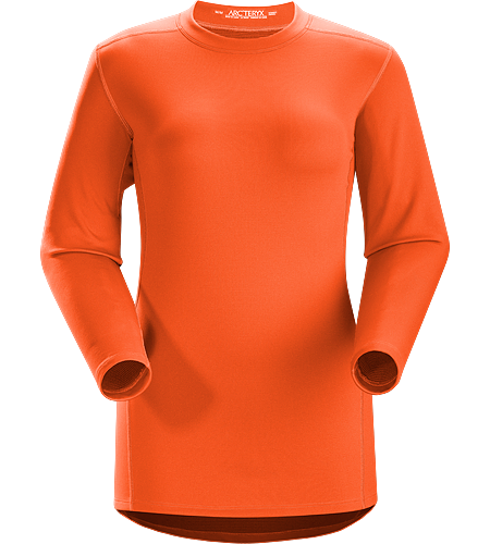 Phase SV Crew LS Women's Moisture-wicking base-layer, constructed using odour-control fabric; ideal as mid-level insulation during aerobic activities. Phase Series: Moisture wicking base layer | SV: Severe Weather.