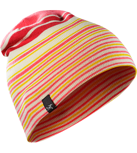 Rolling Stripe Toque Men's A warm, uptempo hat that can be worn full stripes out, or as a solid hat with a striped headband.