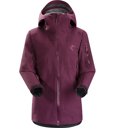Sentinel Jacket Women's Women's GORE-TEX® big mountain ski and snowboard jacket with a warm flannel lined, helmet compatible StormHood™, and relaxed, contemporary fit.