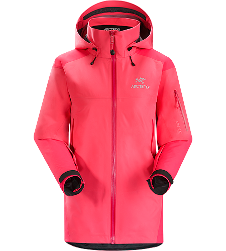 Theta AR Jacket Women's Highly versatile, thigh length women's waterproof breathable shell designed using two different weights of GORE-TEX® Pro to maximize durability and minimize weight. Theta Series: All-round mountain apparel with increased coverage | AR: All-Round.