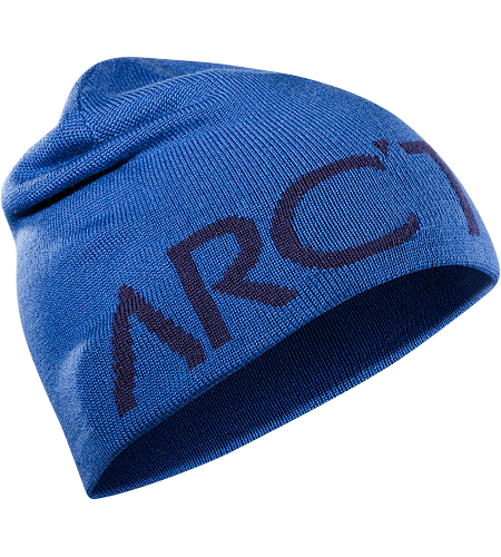 Word Head Toque Close fitting wool blend reversible toque with a bold Arc'teryx word logo on one side, solid color on the other.