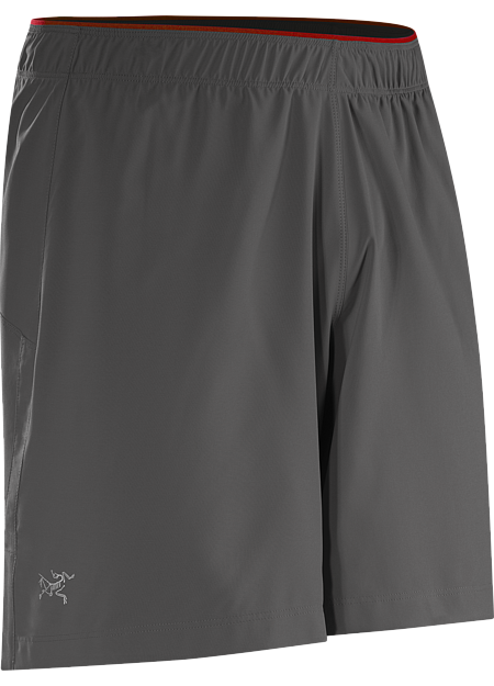 Adan Short Men's Superlight, quick drying, Invigor™ stretch polyester short with built in brief, small side split, and stash security pocket. Designed for high output mountain training.