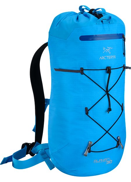 Alpha FL 30 Backpack Ultralight and highly weather resistant 30 litre climbing pack suited to fast and light alpine, ice and rock routes. Alpha Series: Climbing and alpine focused systems | FL: Fast and Light.