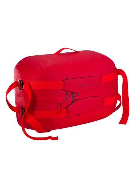 Carrier Duffle 50 Lightweight, highly water resistant, mid-size 49 litre duffle bag with removable, adjustable webbing shoulder straps.