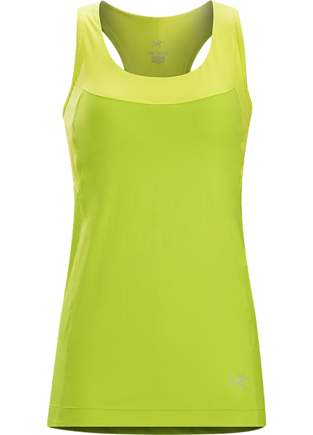Cita Tank Women's High performance women's tank top with integrated shelf bra suited for race days and warm weather training.