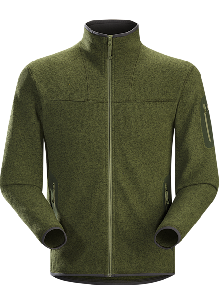 Covert Cardigan Men's Clean, casual lines and technical Alpenex™ fleece performance combine in a fleece jacket with wool sweater styling.