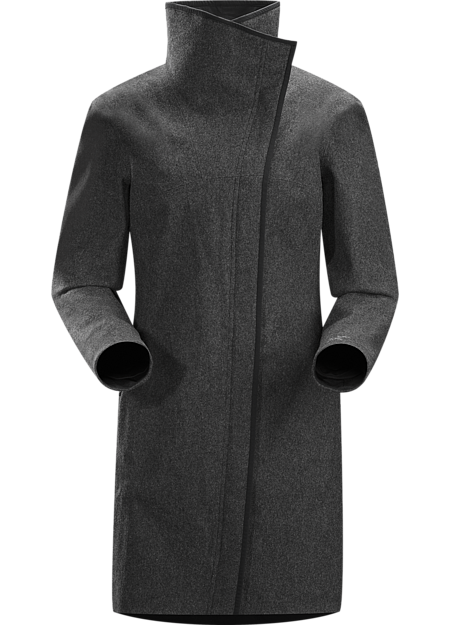 Elda Coat Women's Sophisticated, wind resistant wool blend coat with cosmopolitan style and comfortable fleece liner.