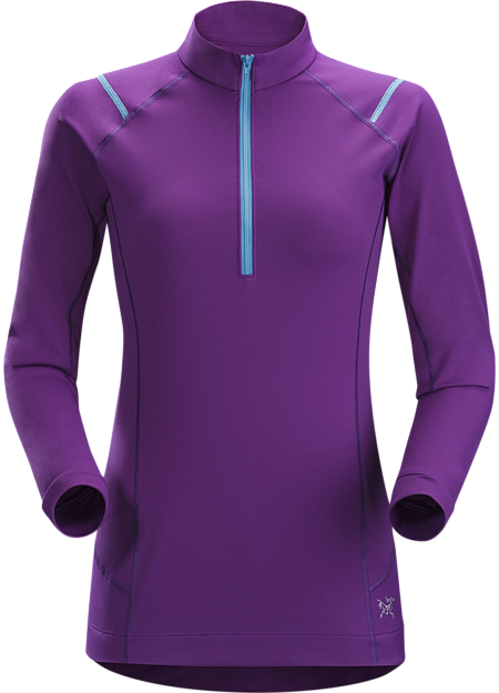 Ensa Zip Neck LS Women's Midweight, quick drying, long sleeve, zip neck women's technical tee with excellent wicking properties. Designed for high output mountain training in cool conditions.