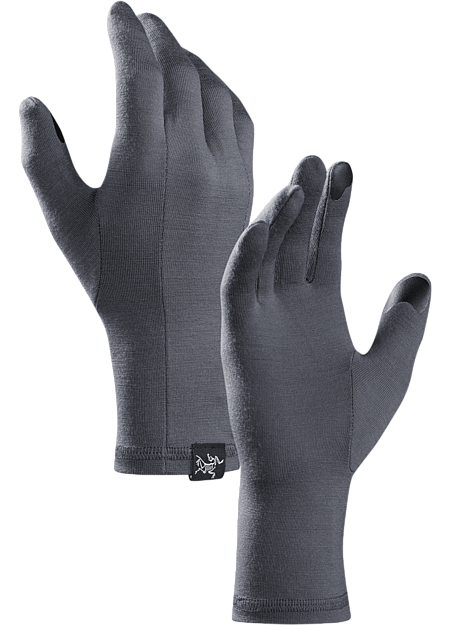 Gothic Glove Lightweight, touch screen compatible merino wool glove designed for use as a standalone or liner.