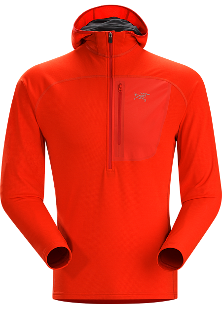 Konseal Hoody 3/4 Zip Men's Alpine focused Polartec® Power Dry fleece mid-layer that moves easily inside a shell and has a uniquely versatile hood.