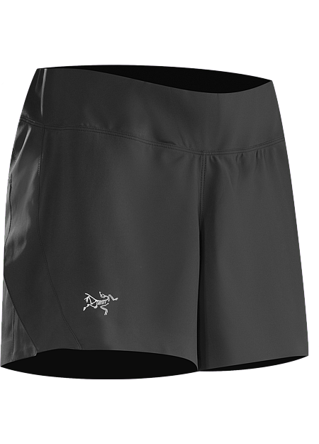 Lyra Short Women's Lightweight, versatile short with 3/4 length side slit, an inner brief liner and a wide stretch knit waistband with elastic drawcord for enhanced comfort and freedom of movement.