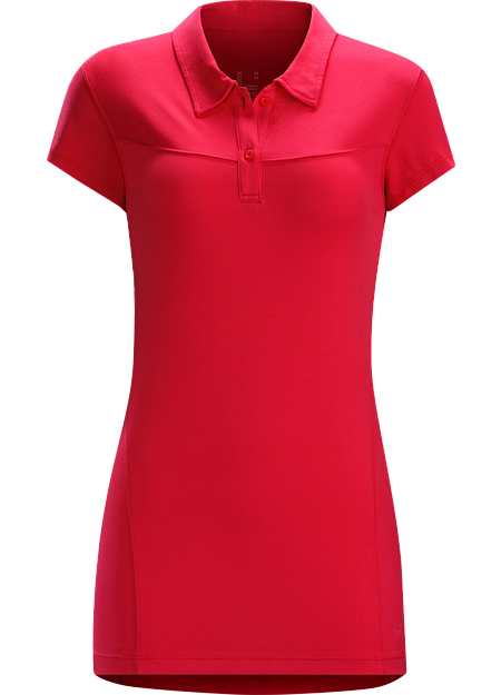 Motive Polo SS Women's DryTech™ cotton/polyester blend women's polo combines updated style with cotton's natural comfort and the moisture management of quick drying polyester.