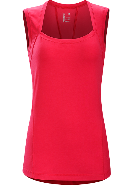 Motive Sleeveless Women's Sleeveless top for travel, active commuting and day to day life combines casual style with the performance of breathable, moisture wicking DryTech™ stretch jersey fabric.