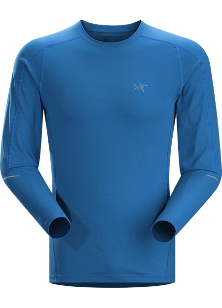 Motus Crew LS Men's Lightweight, moisture-wicking, quick-drying, long-sleeve shirt constructed using Phasic™ technology textile; ideal for a wide range of high-output activities.