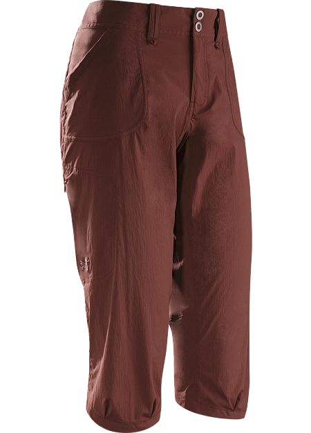 Parapet Capri Women's Casual capri pant constructed with lightweight, durable yet stretchy technical fabric for enhanced mobility during activity
