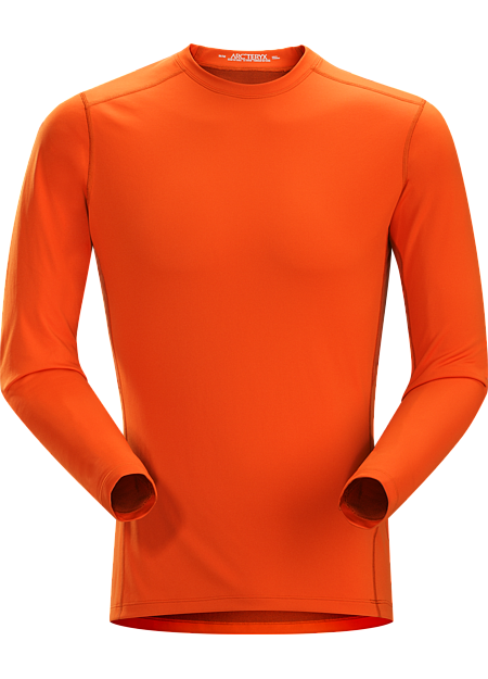 Phase AR Crew LS Men's Lightly-insulated, moisture-wicking, base layer, designed for aerobic use during cooler conditions. Phase Series: Moisture wicking base layer | AR: All-Round.