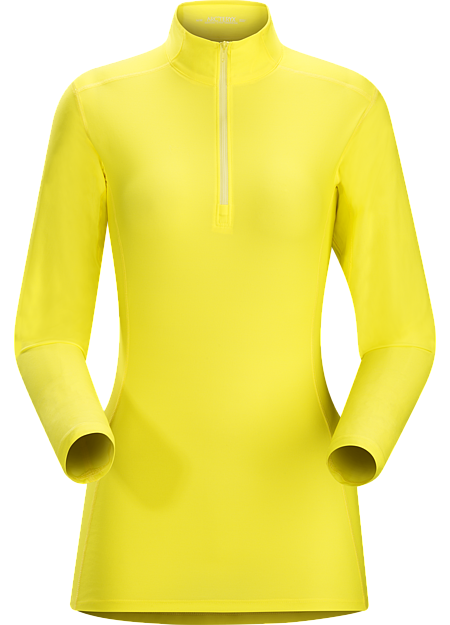 Phase SL Zip Neck LS Women's Moisture-wicking base-layer with zip neck, constructed using odour-control fabric; Ideal as lightweight insulation layer during aerobic activities. Phase Series: Moisture wicking base layer | SL: Superlight.