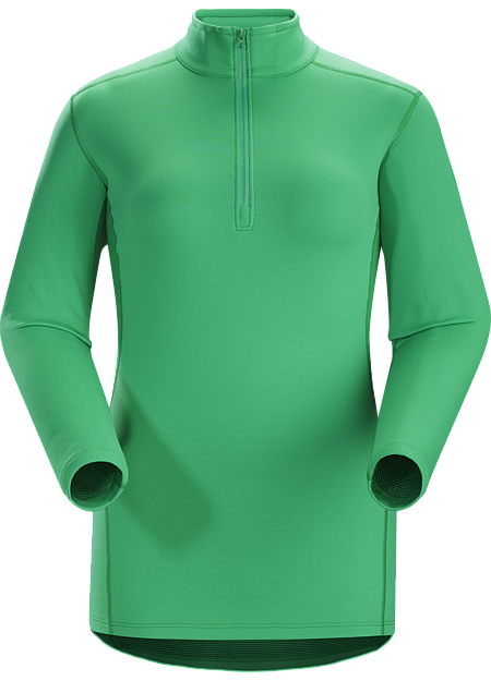 Phase SV Zip Neck LS Women's Moisture-wicking base layer, constructed using odour-control fabric; ideal as mid-level insulation during stop-and-go activities. Phase Series: Moisture wicking base layer | SV: Severe Weather.