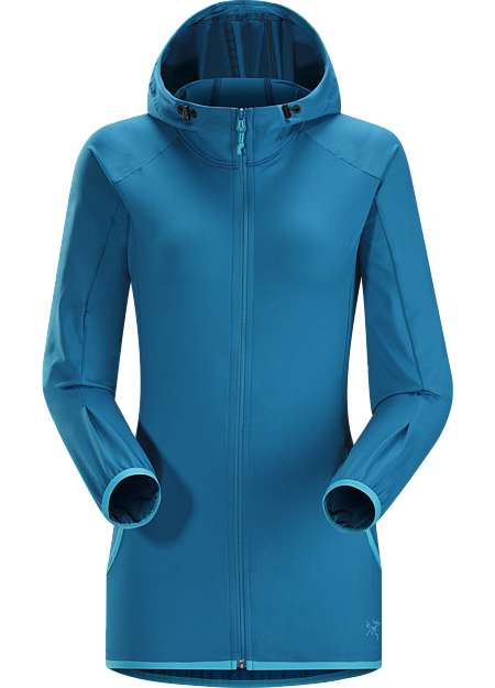 Soltera Hoody Women's Versatile, athletic hoody made from soft, stretchy, airy Haven™ brushed polyester fabric.