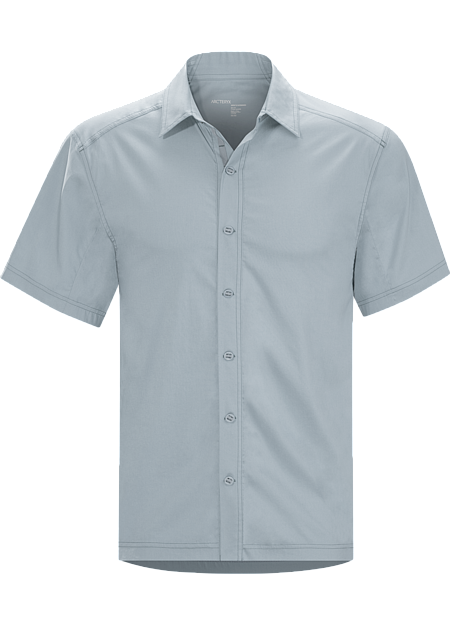 Transept Shirt SS Men's Performance and comfort blend in trim fitting button down cotton/nylon shirt for active travel and urban adventure.