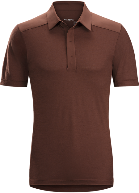 A2B Polo Shirt Men's Short sleeve performance polo made from Polylain™ polyester/wool knit. Designed for bike commutes and daily urban life.