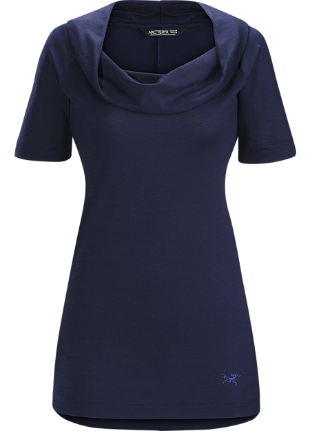 A2B Top Women's Trim fitting Polylain™ women's wool blend top with scooped, gathered neckline. Created for active commuting and everyday wear.