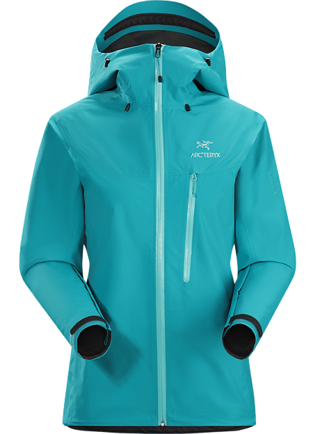 Alpha SL Jacket Women's Super lightweight and compact, waterproof jacket constructed using GORE-TEX® fabric with PacLite® product technology and designed with essential climbing features such as a helmet compatible StormHood™ and Hemlock™ harness blocker; ideal as a packable emergency storm jacket for alpine or multipitch climbing. Alpha Series: Climbing and alpine focused systems | SL: Super light.