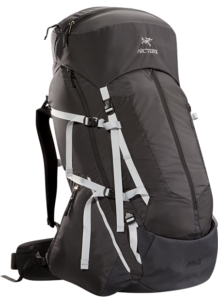 Altra 85 Backpack Men's Five-plus day, 85 litre volume expedition back pack that carries heavy loads comfortably for long periods over rough terrain when trekking and backpacking, constructed with the new C² Composite Construction suspension system,