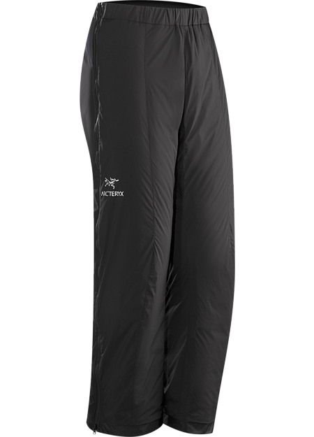 Atom LT Pant Men's Insulated, wind-resistant pants using Coreloft™ 60 for lightweight, insulative comfort during colder conditions. Ideal during Alpine adventures as an over layer to preserve body heat during periods of low activity. Atom Series: Synthetic insulated mid layers | LT: Lightweight.