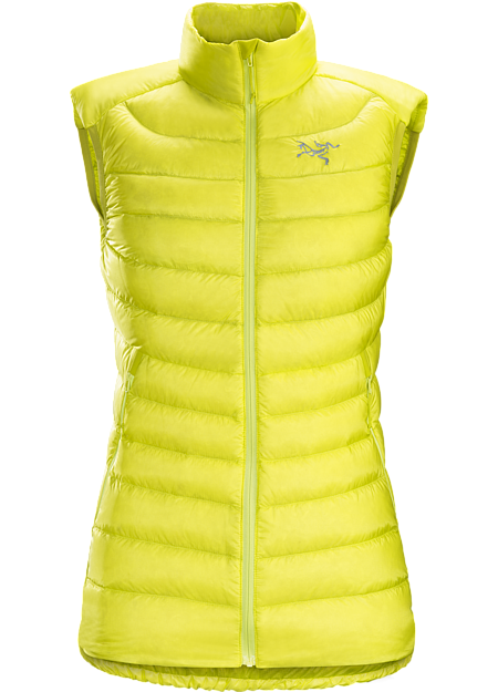Cerium LT Vest Women's Streamlined, lightweight, vest filled with 850 white goose down. This backcountry specialist is intended as a mid layer or standalone piece in cool, dry conditions. Down Series: Down insulated garments | LT: Lightweight.