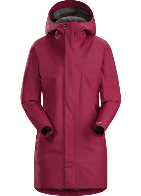 Codetta Coat Women's Waterproof, three-quarter length GORE-TEX® rain jacket with hood.