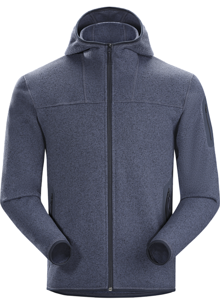 Covert Hoody Men's Clean, casual lines and technical Alpenex™ fleece performance combine in a hooded jacket with wool sweater styling