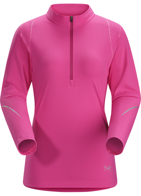 Ensa Zip Neck LS Women's Midweight, quick drying, long sleeve, technical zip neck with excellent wicking properties. Designed for comfort in cool conditions.