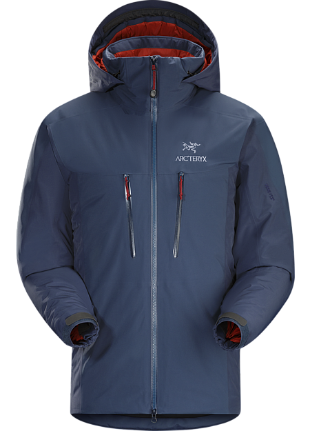 Fission SV Jacket Men's Waterproof, insulated jacket constructed with enhanced GORE-TEX® fabric with a softer face and Coreloft™ insulation. Our warmest, fully waterproof, synthetic insulated, all-mountain jacket. Fission Series: Insulated weatherproof outerwear | SV: Severe Weather.