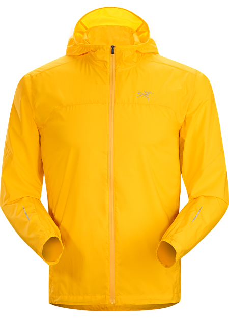Incendo Hoody Men's Streamlined, ultralight hooded shell delivers wind and weather protection during high-output mountain training and trail runs.