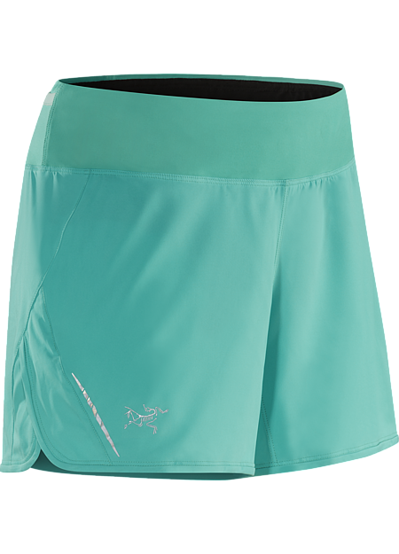 Lyra Short Women's Lightweight short with a built in liner, ¾ side split and wide stretch waistband. Designed for high output mountain training.
