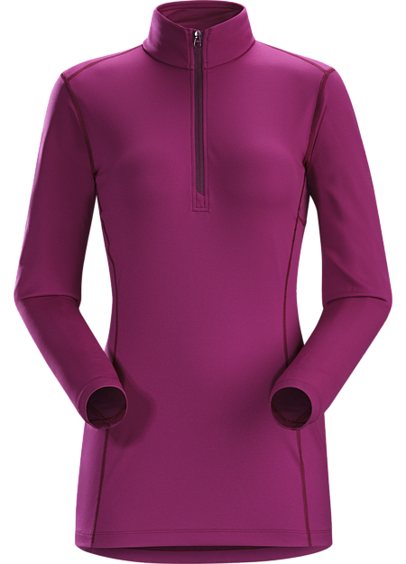 Phase AR Zip Neck LS Women's Midweight Phasic™ baselayer zip-neck top for all round use cooler temperatures. Phase Series: Moisture wicking base layer | AR: All-Round.
