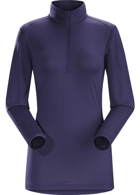 Phase SL Zip Neck LS Women's Silkweight Phasic™ zip-neck baselayer for high output in cooler temperatures. Phase Series: Moisture wicking base layer | SL: Superlight.