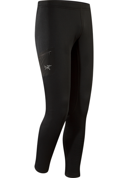 Rho AR Bottom Men's Versatile, insulated tight that can be worn as an insulated base layer, or as a stand-alone outer layer during cool-weather workouts