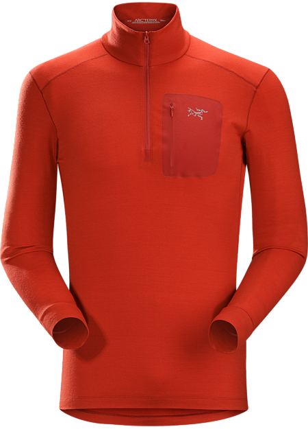 Satoro AR Zip Neck Shirt LS Men's Midweight Merino baselayer delivering wool performance with enhanced durability.