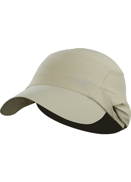 Spiro Cap Lightweight Legionnaire style hat with an extra large brim and a stowable back flap for full UPF 50+ sun protection.