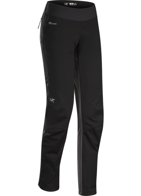 Trino Tight Women's GORE® WINDSTOPPER® mountain training tight for windy, cool, damp conditions.