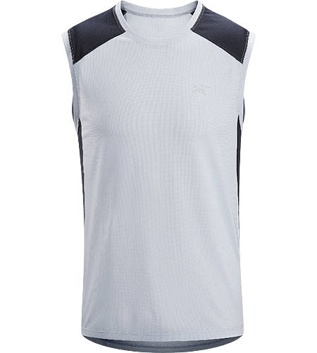 Actinium Sleeveless Men's Highly air permeable, lightweight, moisture-wicking, mesh sleeveless running shirt