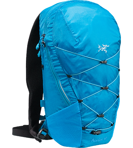 Aerios 10 Lightweight, body-hugging hydration pack, designed for use on the trails.