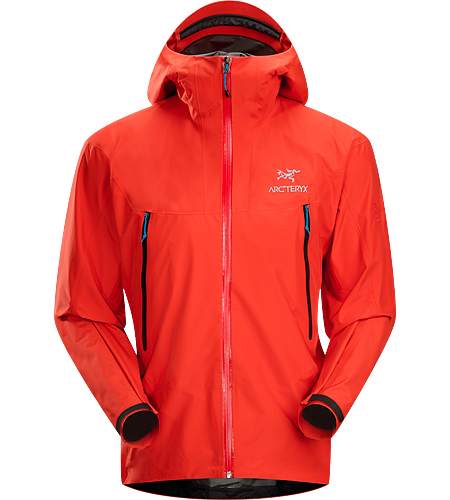 Alpha SL Jacket Men's Super lightweight, waterproof GORE-TEX PacLite jacket with essential backcountry features and helmet compatible Speed Hood; ideal as an easily packable emergency storm jacket in an alpine environment.
