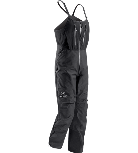Alpha SV Bib Men's Waterproof, breathable, durable, high-rise bib pant for four-season, complete weather protection.