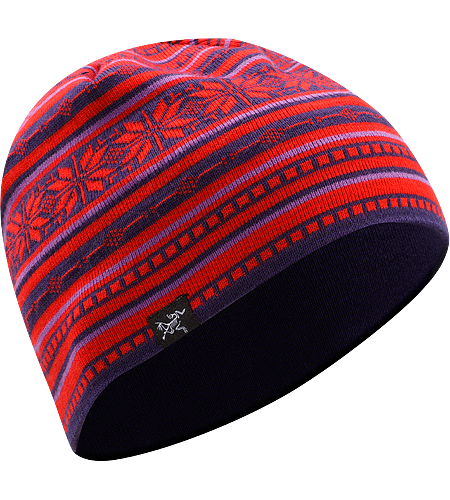 Angus Beanie Men's Merino wool/acrylic mix beanie with geometric patterning.
