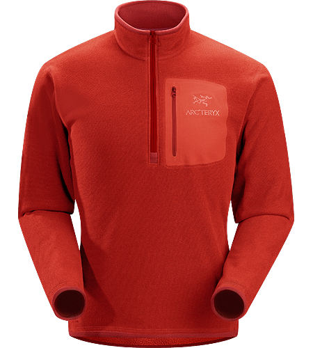 Apache AR Zip Neck Men's Compressible, insulated, quick-drying fleece layer.